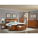 A-America Furniture Grant Park 4-Piece Panel with Storage Bedroom Set in Pecan