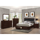 Coaster Jaxson 4-Piece Storage Bedroom Set. in Cappuccino