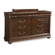 Klaussner Parkview 8 Drawer Dresser in Bourbon 398-650
