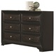 Coaster Delano Dresser in Rubbed Black Wood 203813
