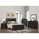 Coaster Delano 4-Piece Panel Upholstered Bedroom Set in Rubbed Black Wood