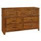 Coaster Cupertino Dresser in Antique Amber 204023