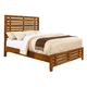 Coaster Cupertino King Panel Bed in Antique Amber 204021KE
