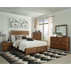 Coaster Cupertino 4-Piece Panel Bedroom Set in Antique Amber