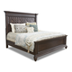 Klaussner Palencia King Panel Bed in Dark Brown 799-066