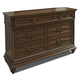 Klaussner Palencia 7 Drawer Dresser in Dark Brown 799-650