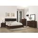 Coaster Cloverdale 4-Piece Panel Bedroom Set in Dark Cappuccino