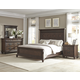 Klaussner Palencia 4-Piece Panel Bedroom Set in Dark Brown
