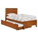 Coaster Ashton Twin Storage Bed in Honey