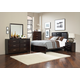 Coaster Palmetto 5-Piece Panel Bedroom Set in Cappuccino