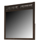 Coaster Carlton Mirror in Cappuccino 202094
