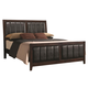 Coaster Carlton Upholstered King Bed in Cappuccino 202091KE