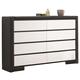 Coaster Regan Dresser in Black/White 203333