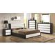 Coaster Regan 4-Piece Panel Bedroom Set in Black/White