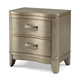 Klaussner Serenade Glamour 2 Drawer Nightstand in Shimmering Wood 974-670