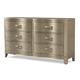 Klaussner Serenade Glamour 6 Drawer Dresser in Shimmering Wood 974-650