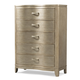Klaussner Serenade Glamour 5 Drawer Chest in Shimmering Wood 974-681