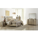 Klaussner Serenade Glamour 4-Piece Panel Bedroom Set in Shimmering Wood