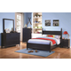 Coaster Zachary 4-Piece Panel Bedroom Set in Navy
