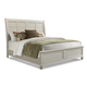 Klaussner Sea Breeze California King Sleigh Bed in White 424-060