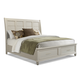 Klaussner Sea Breeze King Sleigh Storage Bed in White 424-166