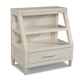 Klaussner Sea Breeze Shelf Nightstand in White 424-671