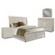 Klaussner Sea Breeze 4-Piece Queen Sleigh Storage Bedroom Set in White