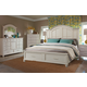 Klaussner Sea Breeze 4-Piece Island Bliss Panel with Storage Bedroom Set in White