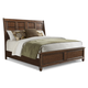 Klaussner Blue Ridge California King Sleigh Bed in Cherry 426-060