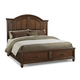 Klaussner Blue Ridge King Panel with Storage Bed in Cherry 427-166