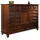 Klaussner Blue Ridge Dresser in Cherry 426-650