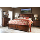 Klaussner Blue Ridge 4-Piece Sleigh with Storage Bedroom Set in Cherry