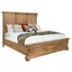 Hekman Wellington Hall King Panel Bed in Burnished Brown 2-3366