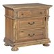 Hekman Wellington Hall 3-Drawer Nightstand in Burnished Brown 2-3363