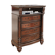 Fairfax Home Furnishings Bainbridge Traditional Media Chest in Rich Brown - 1118-05