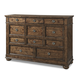 Klaussner Southern Pines 11 Drawer Dresser in Pine Ridge 436-650