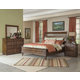 Klaussner Southern Pines 4-Piece Whispering Pines Sleigh Bedroom Set in Pine Ridge
