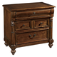 Hekman Vintage European 3-Drawer Nightstand in Vintage Brown 2-3264