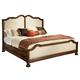 Hekman Vintage European Upholstered Queen Bed in Vintage Brown 2-3268