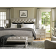 Lexington Oyster Bay 4-Piece Sag Harbor Tufted Upholstered Bedroom Set in Distressed