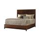 Tommy Bahama Home Island Fusion California King Shanghai Panel Bed in Dark Walnut 556-145C