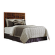 Tommy Bahama Home Island Fusion California King Shanghai Panel Headboard Bed in Dark Walnut 556-145HB