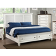 New Classic Whitaker California King Panel with Storage Bed in Antique White 00-5034-100