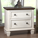 New Classic Whitaker 2 Drawer Nightstand in Antique White B5034-040