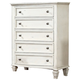 New Classic Whitaker 5 Drawer Chest in Antique White B5034-070