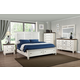 New Classic Furniture Whitaker 4-Piece Panel with Storage Bedroom Set in Antique White