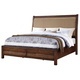 New Classic Remington California King Panel Bed in Distressed Gunstock 00-0310-100