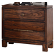 New Classic Remington 2 Drawer Nightstand in Distressed Gunstock B0310-040