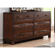 New Classic Remington 8 Drawer Dresser in Distressed Gunstock B0310-050