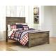 Trinell Full Panel Bed in Warm Rustic Oak B446-FULL